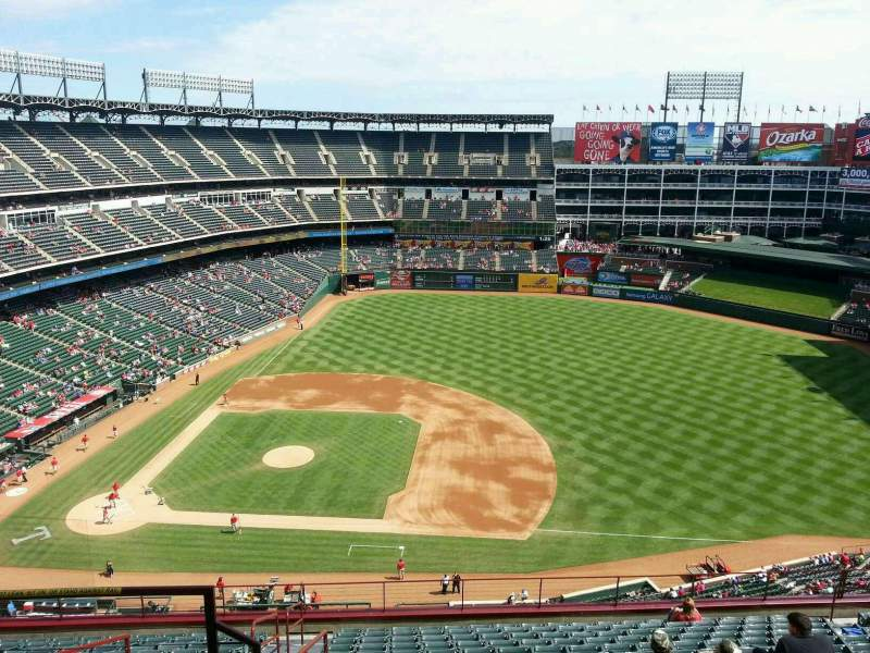 Seating view for Globe Life Park in Arlington Section 334 Row 16 Seat 3