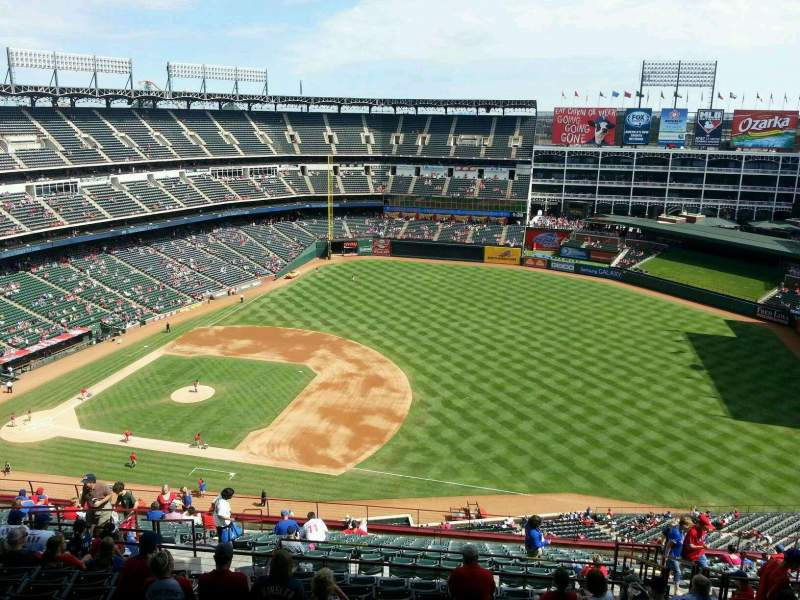 Seating view for Globe Life Park in Arlington Section 336 Row 22 Seat 15