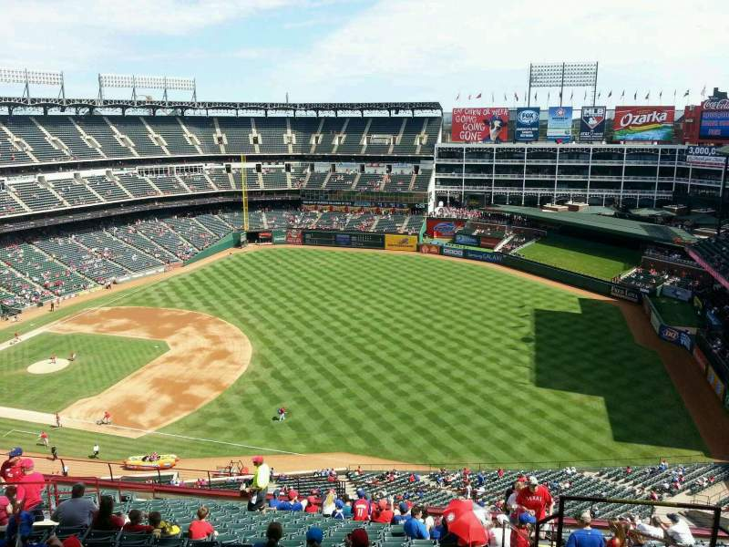 Seating view for Globe Life Park in Arlington Section 338 Row 19 Seat 16