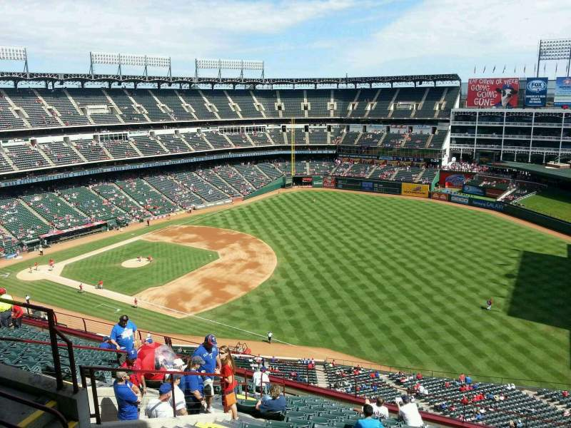 Seating view for Globe Life Park in Arlington Section 339 Row 16 Seat 10