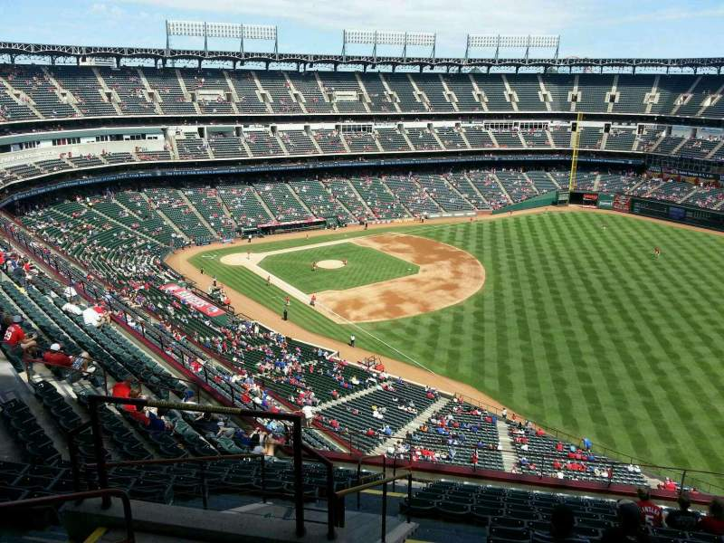 Seating view for Globe Life Park in Arlington Section 341 Row 16 Seat 4