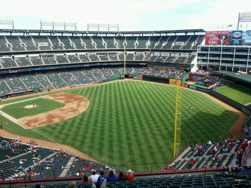 Seating view for Globe Life Park in Arlington Section 342 Row 15 Seat 9