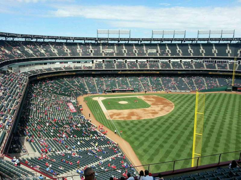 Seating view for Globe Life Park in Arlington Section 344 Row 12 Seat 4