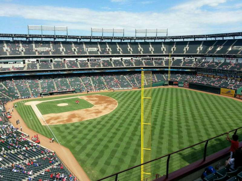 Seating view for Globe Life Park in Arlington Section 344 Row 5 Seat 6