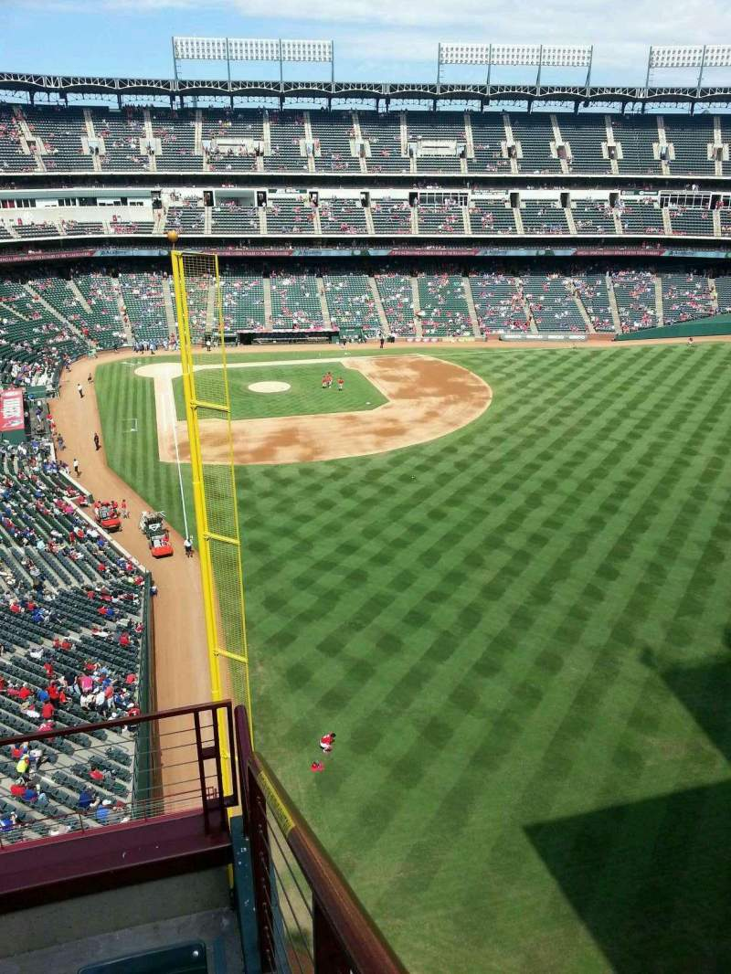 Seating view for Globe Life Park in Arlington Section 345 Row 4 Seat 9