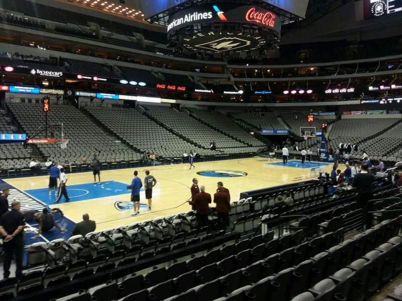 Seating view for American Airlines Center Section 120 Row H Seat 18