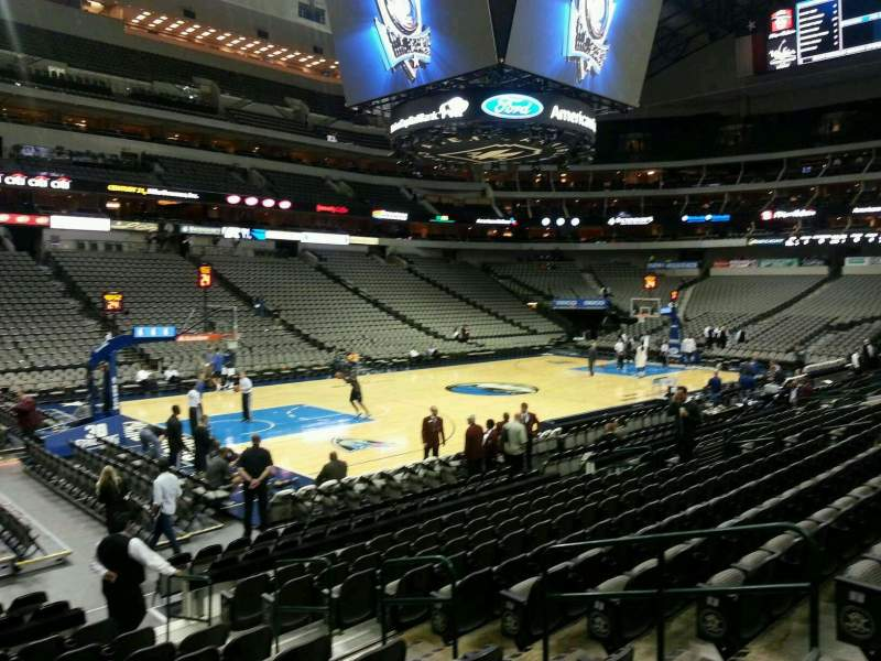 Seating view for American Airlines Center Section 121 Row L Seat 7