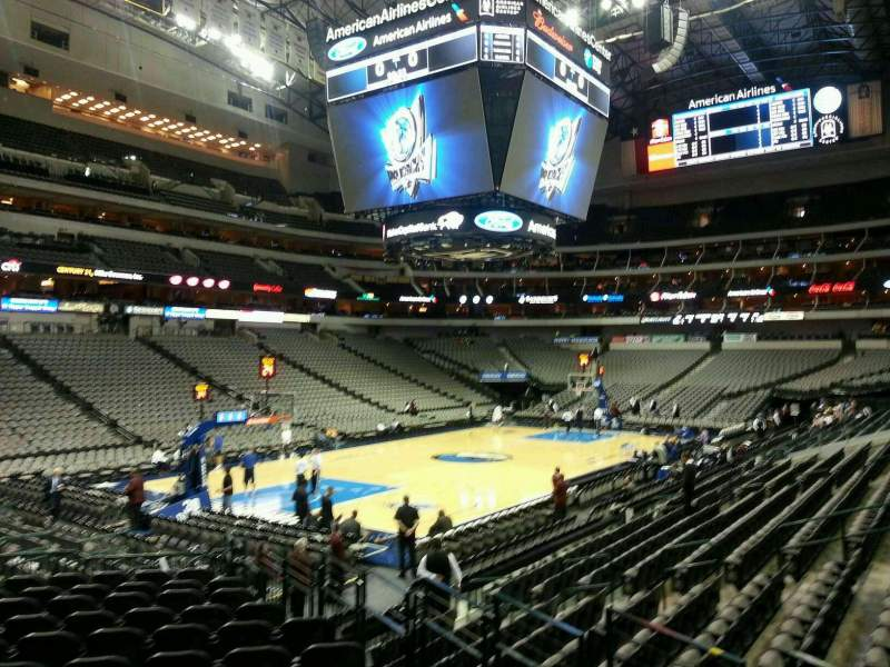 Seating view for American Airlines Center Section 122 Row N Seat 6