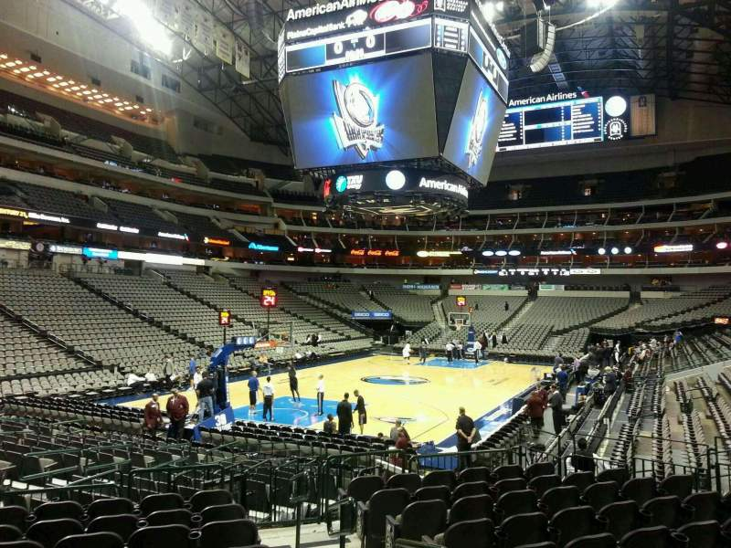 Seating view for American Airlines Center Section 123 Row K Seat 2