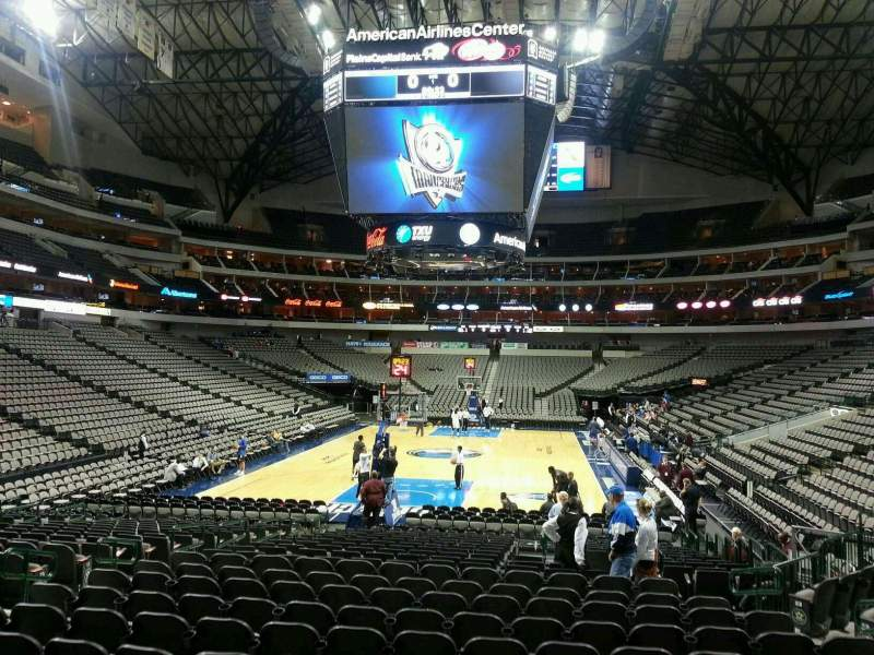 Seating view for American Airlines Center Section 124 Row M Seat 11