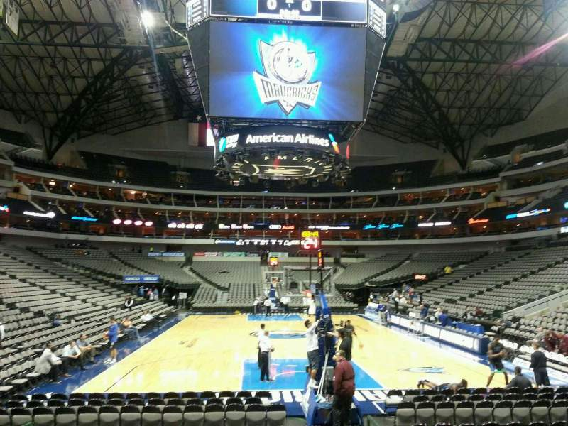 Seating view for American Airlines Center Section 101 Row A Seat 3