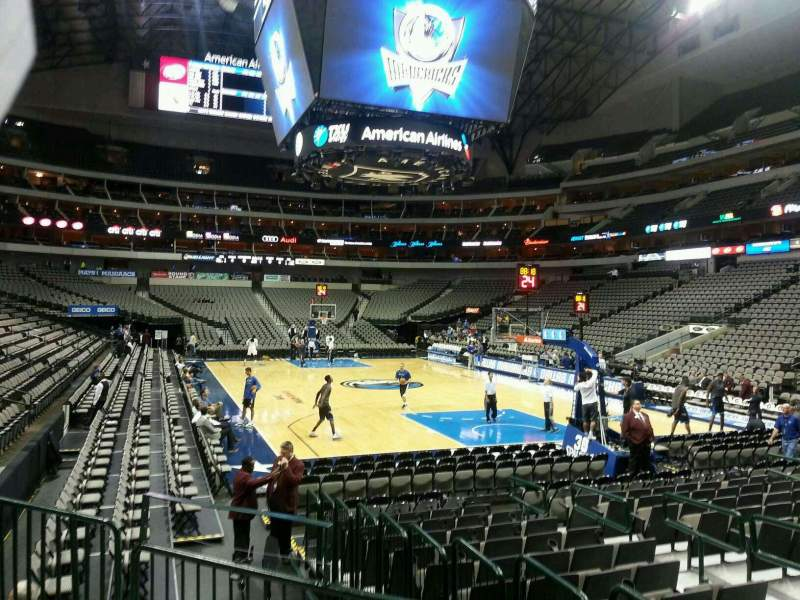 Seating view for American Airlines Center Section 102 Row D Seat 5