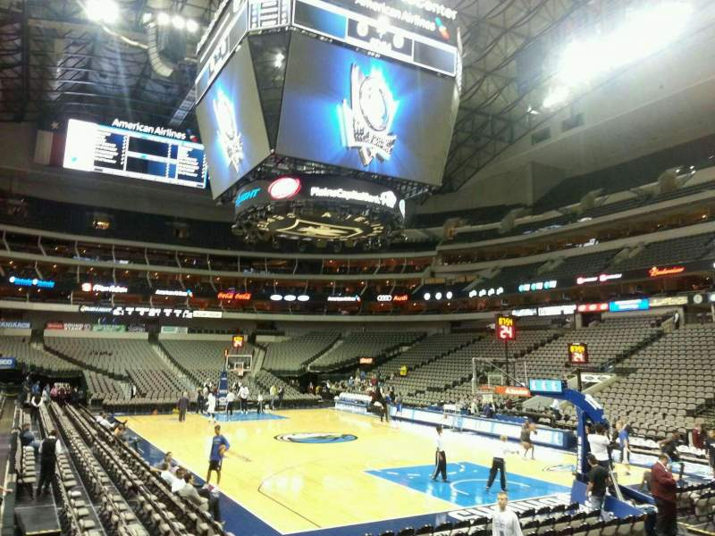 Seating view for American Airlines Center Section 103 Row C Seat 3
