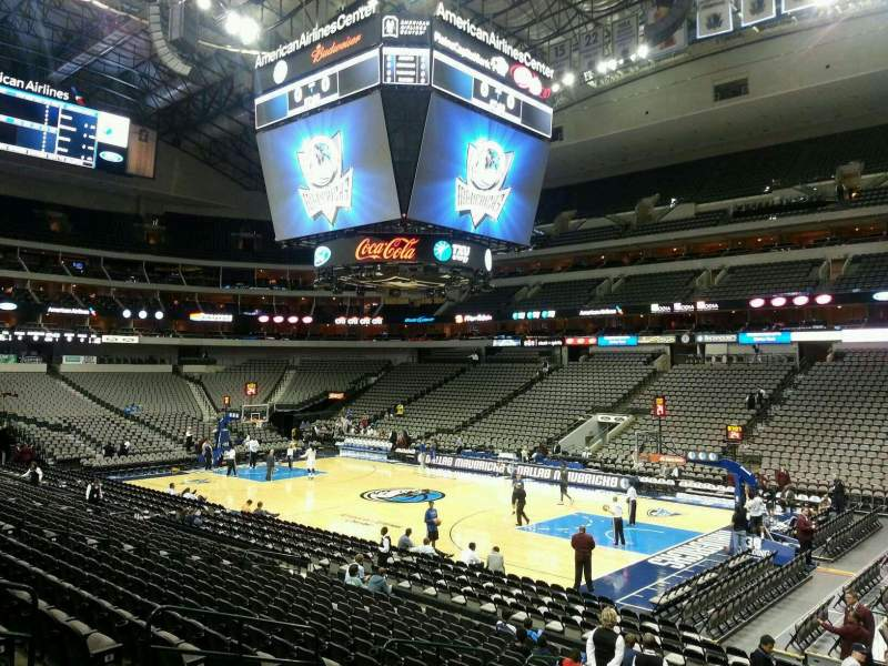 Seating view for American Airlines Center Section 104 Row R Seat 7