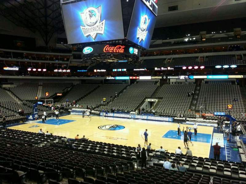 Seating view for American Airlines Center Section 105 Row T Seat 9