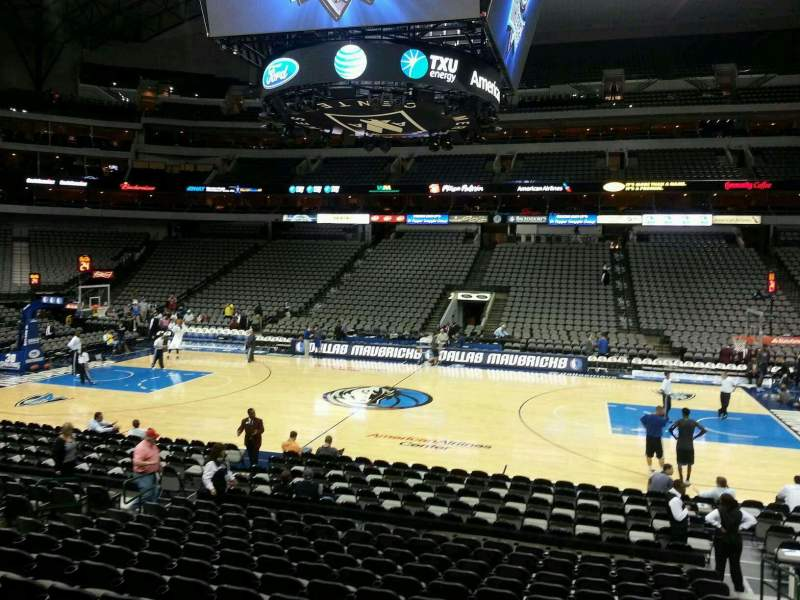 Seating view for American Airlines Center Section 106 Row O Seat 4
