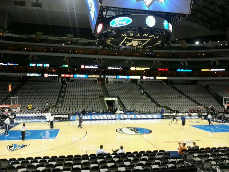 Seating view for American Airlines Center Section 107 Row L Seat 12