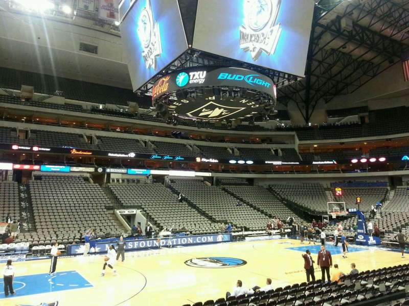 Seating view for American Airlines Center Section 108 Row J Seat 5