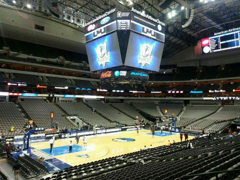 Seating view for American Airlines Center Section 109 Row S Seat 9