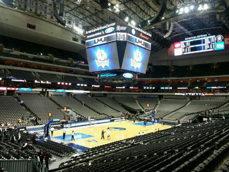 Seating view for American Airlines Center Section 110 Row U Seat 2