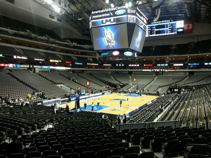 Seating view for American Airlines Center Section 111 Row T Seat 8