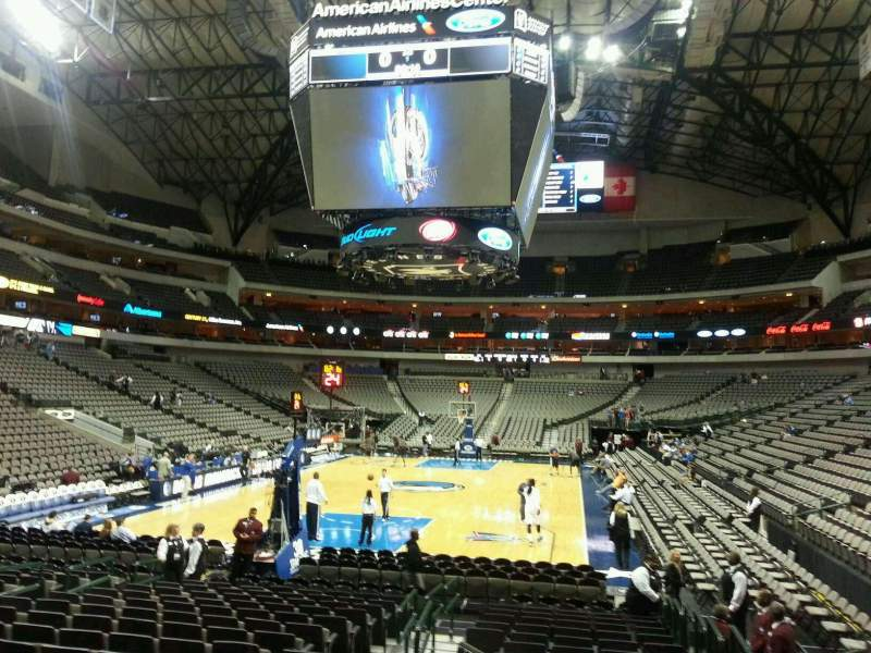 Seating view for American Airlines Center Section 112 Row F Seat 3