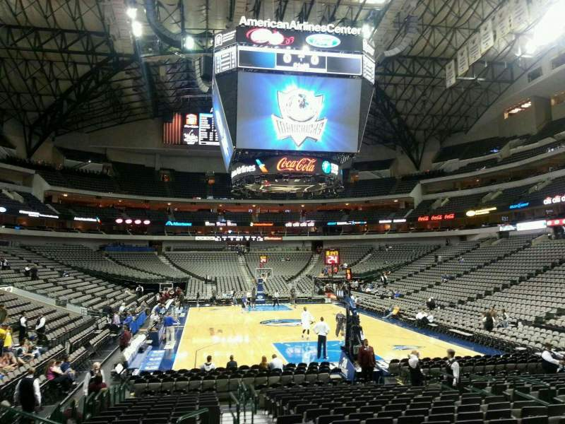 Seating view for American Airlines Center Section 113 Row H Seat 13