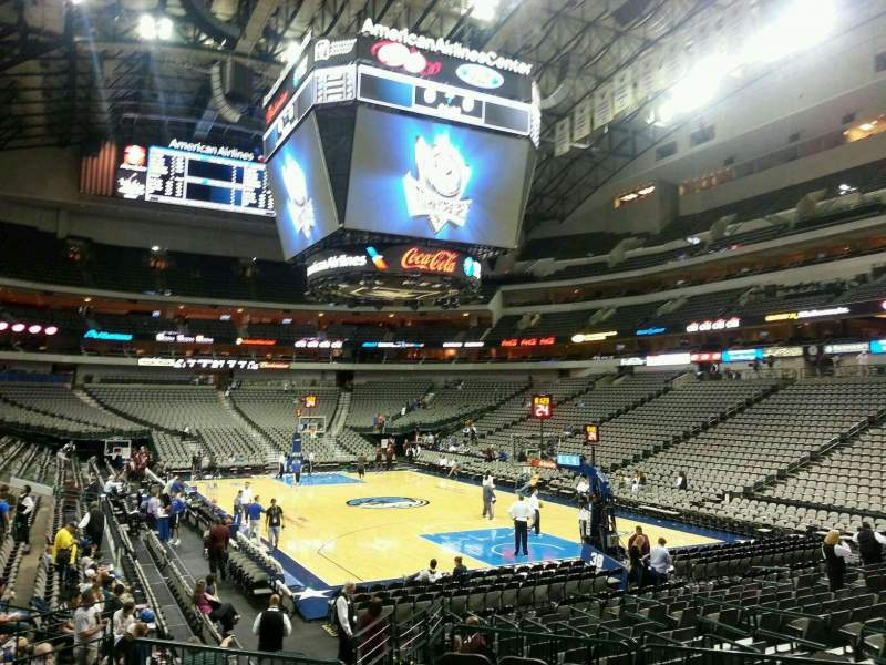 American Airlines Center, section: 114, row: K, seat: 10