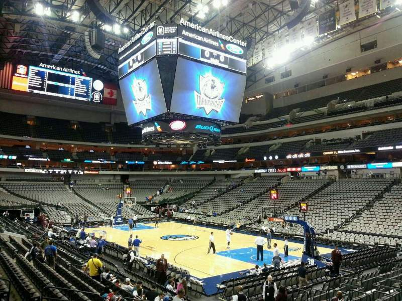 Seating view for American Airlines Center Section 115 Row M Seat 8