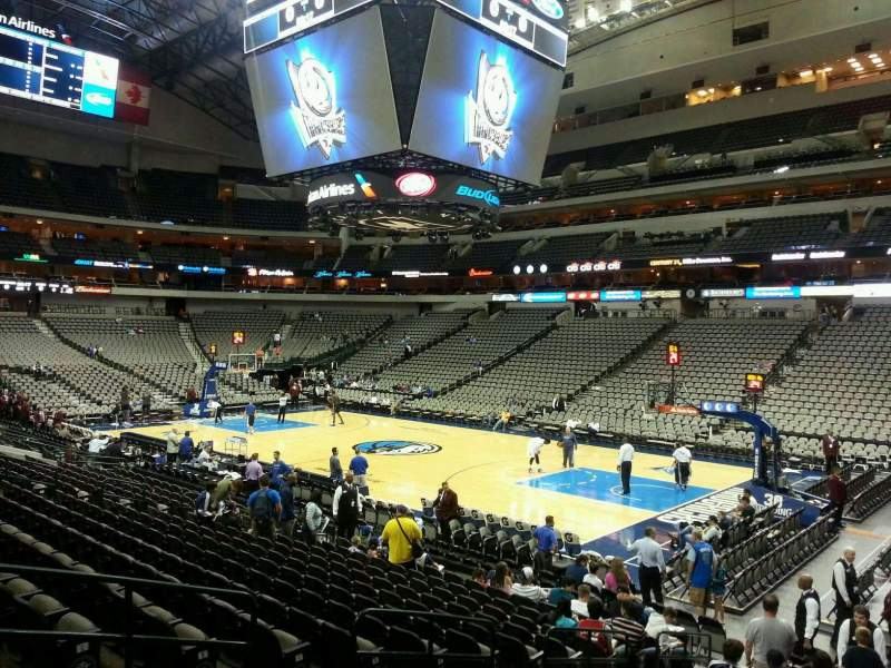 Seating view for American Airlines Center Section 116 Row O Seat 9