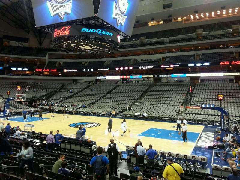 Seating view for American Airlines Center Section 117 Row L Seat 7