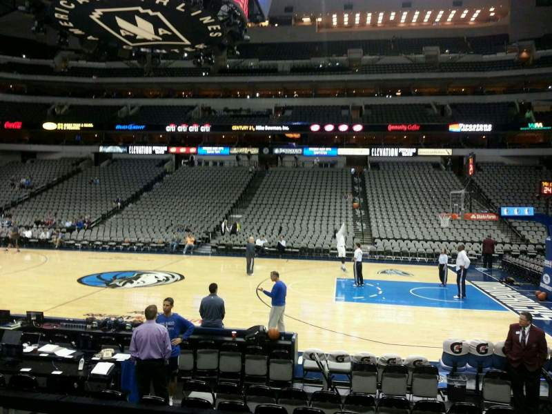 Seating view for American Airlines Center Section 118 Row G Seat 2