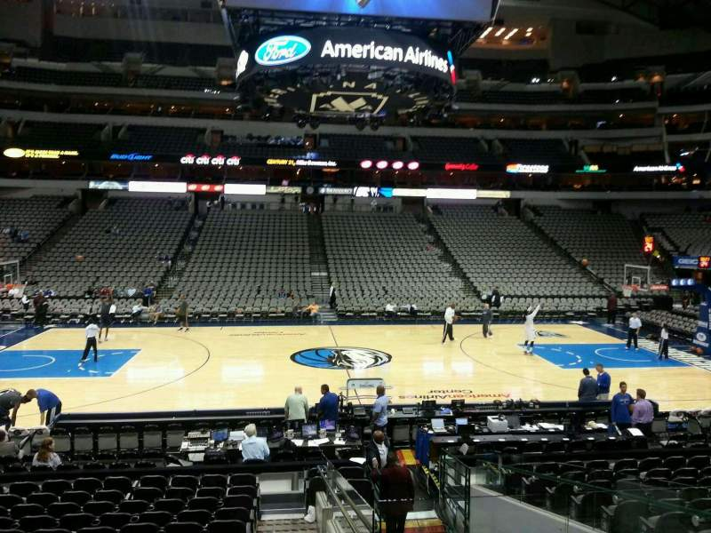 Seating view for American Airlines Center Section 119 Row O Seat 4