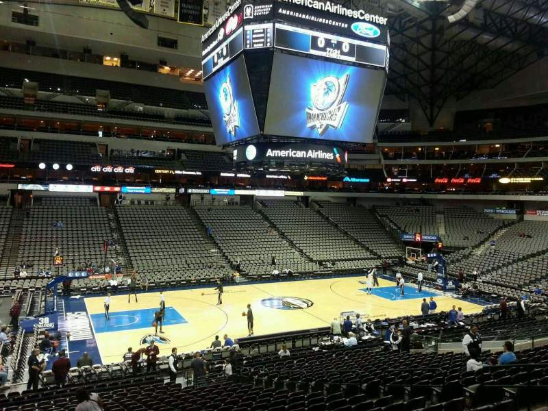 Seating view for American Airlines Center Section 120 Row Y Seat 12