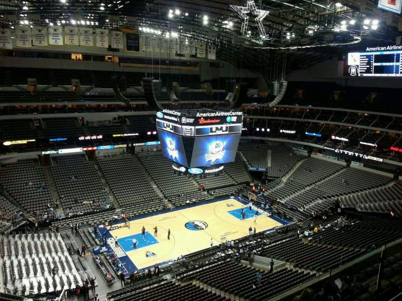 Seating view for American Airlines Center Section 329 Row J Seat 9
