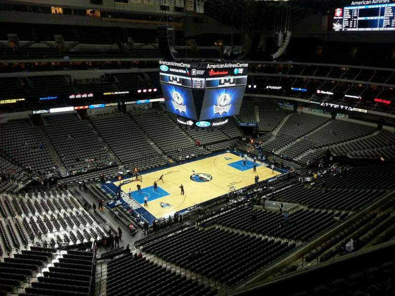 Seating view for American Airlines Center Section 330 Row F Seat 8