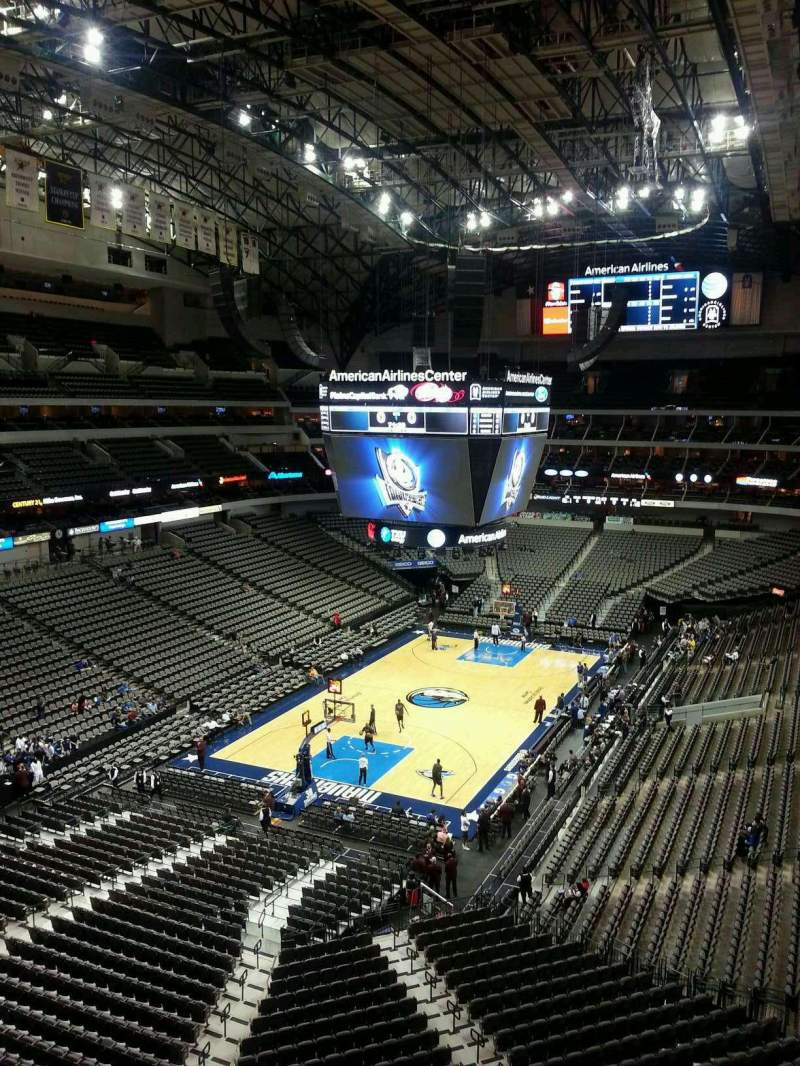 Seating view for American Airlines Center Section 332 Row DD Seat 16