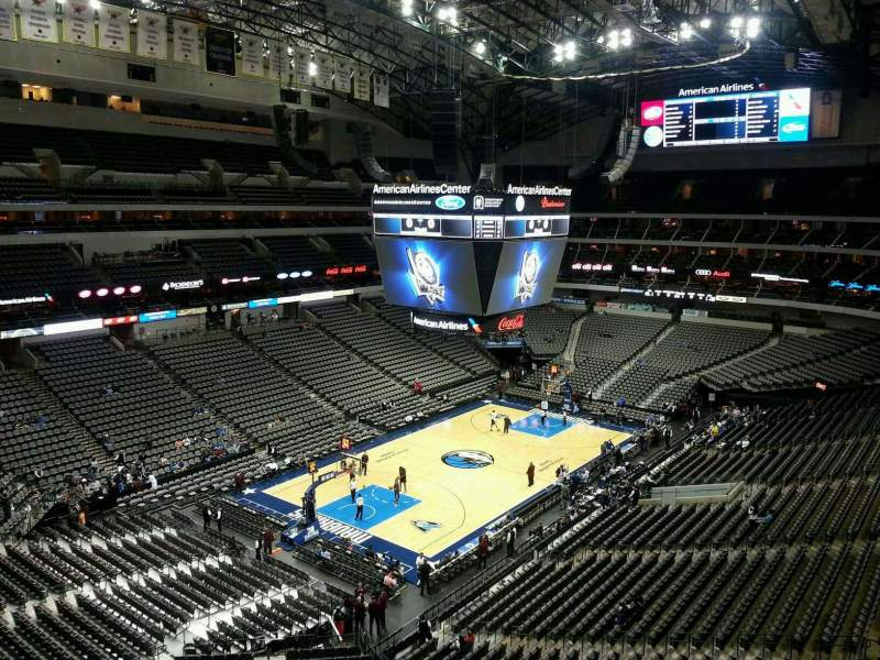 Seating view for American Airlines Center Section 331 Row EE Seat 12