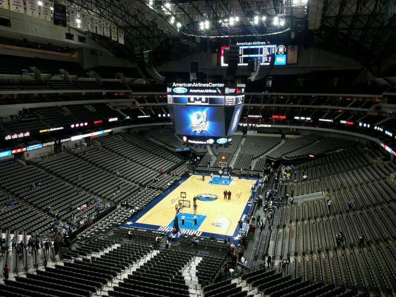 Seating view for American Airlines Center Section 333 Row A Seat 15