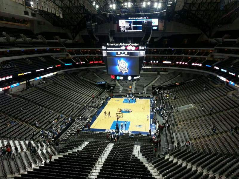 Seating view for American Airlines Center Section 334 Row B Seat 12