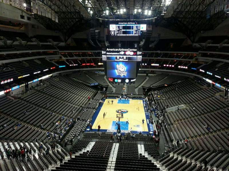 Seating view for American Airlines Center Section 301 Row D Seat 1