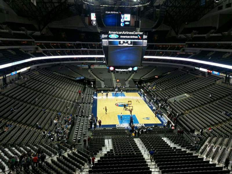 Seating view for American Airlines Center Section 302 Row B Seat 2