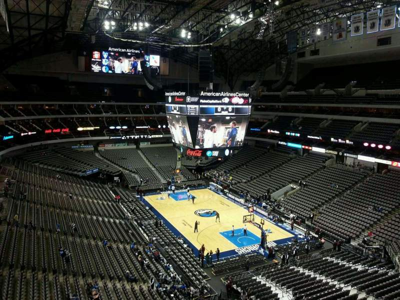 Seating view for American Airlines Center Section 304 Row EE Seat 8