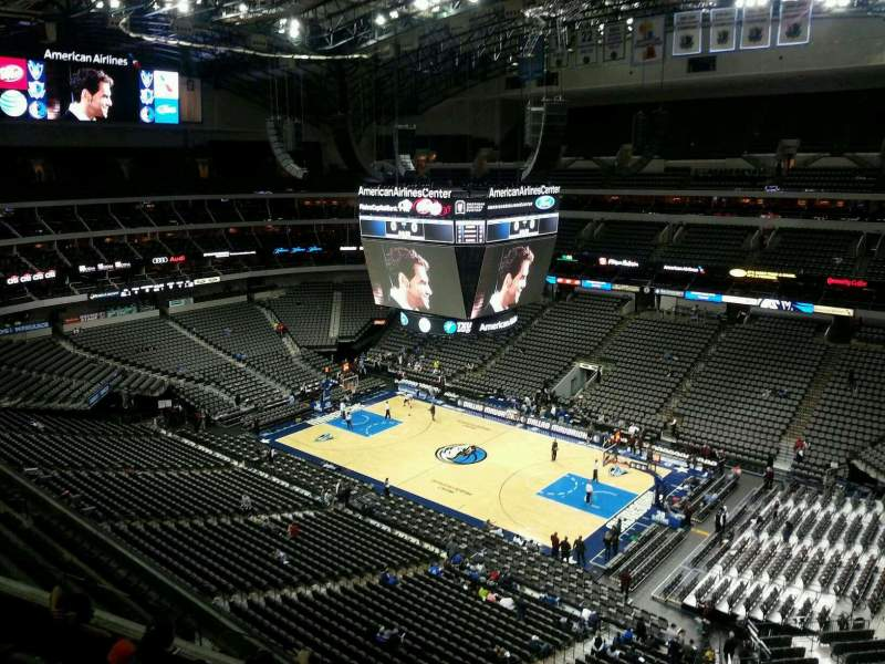 Seating view for American Airlines Center Section 306 Row E Seat 13
