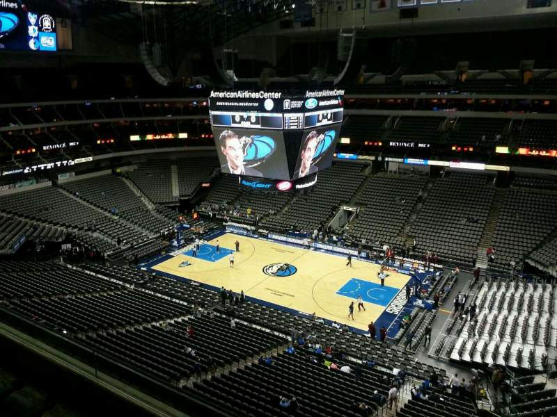 Seating view for American Airlines Center Section 307 Row D Seat 10