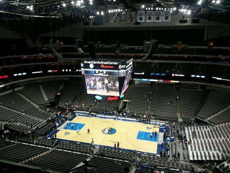 Seating view for American Airlines Center Section 308 Row K Seat 19