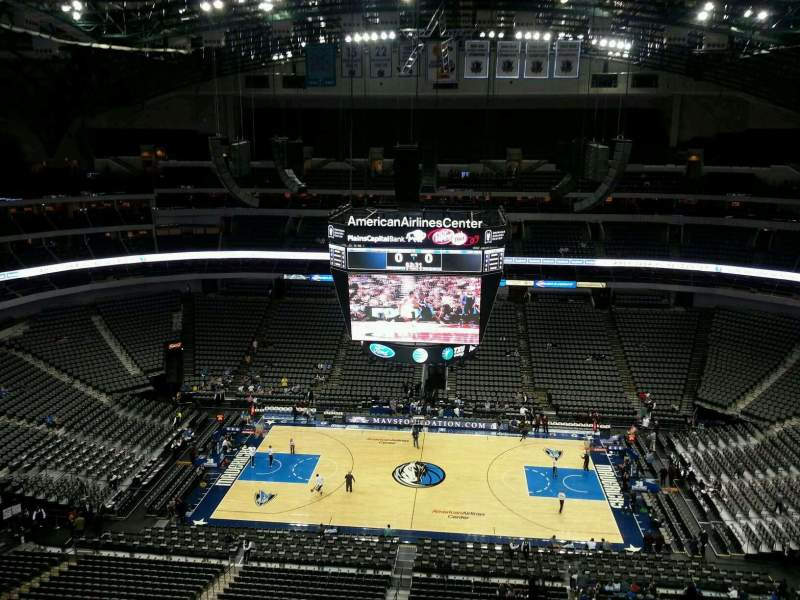 Seating view for American Airlines Center Section 310 Row J Seat 1