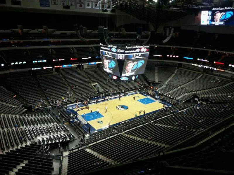 Seating view for American Airlines Center Section 313 Row K Seat 13