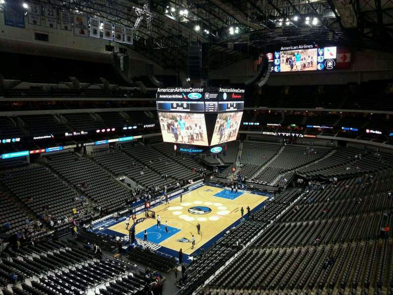 Seating view for American Airlines Center Section 315 Row A Seat 4