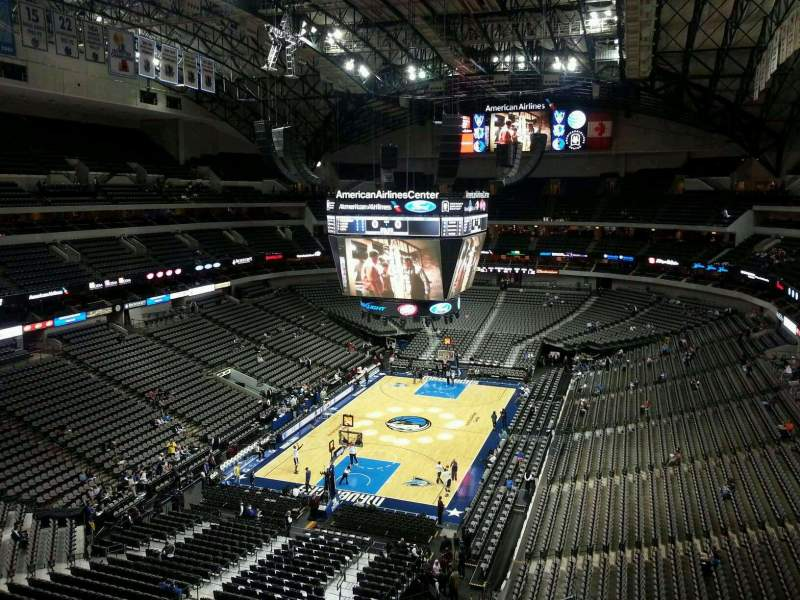 Seating view for American Airlines Center Section 316 Row C Seat 12